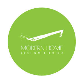 Modern Home Design & Build | Green logo